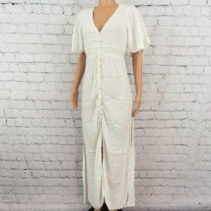 White side slits maxi dress